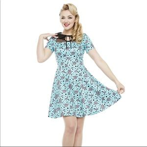 Lindy Bop Rubik's cube swing dress size 14